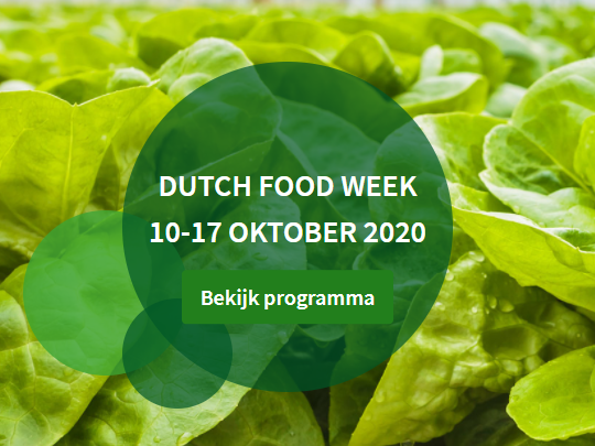 Dutch Food Week 2020 10-17 oktober gaat door!
